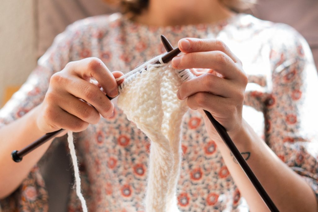 Knitting While Social Distancing