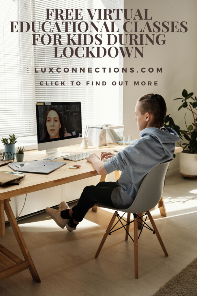 Free Virtual Educational Classes for Kids During Lockdown